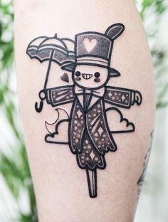 35 Cute Tattoo Designs by Hugo Tattooer - #tattoo #cute #anime #howlsmovingcastle #ghibli #studioghibli