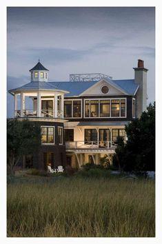 My dream beach house / Beach Cottage / Coastal Style Living Southern Homes, Coastal Homes, Beach Homes, Coastal Living, Coastal Cottage, Southern Charm, Southern Style, Style At Home, Future House