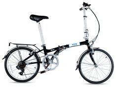 """Amazon.com : Ford by Dahon Taurus 2.0 7-Speed Folding Bicycle, Black, 11"""" x 20"""" : Sports & Outdoors"""