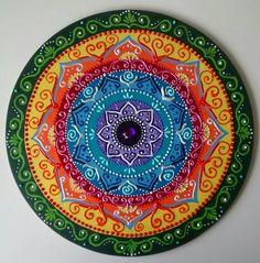 Mandala mdf Guerreiros do Arco-Iris 40cm