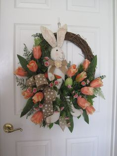 Easter Wreath Free Shipping Spring Wreath Front Door by FunFlorals