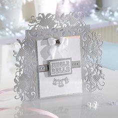 Die'sire Christmas Fancy Edge'ables Holly Bells Cutting Die 1