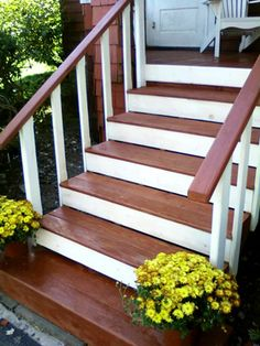 Front Steps?? Why not!  Too cute!