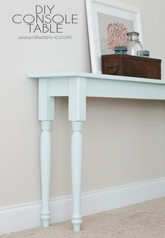 DIY Console Table with great instructions from Always, -C-