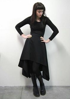 Rectangle skirt with off center waist circle. Beautiful!