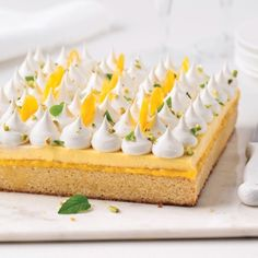 Tarte au citron, confit de betterave jaune, chantilly au chocolat blanc et basilic - Recettes - Cuisine et nutrition - Pratico Pratique