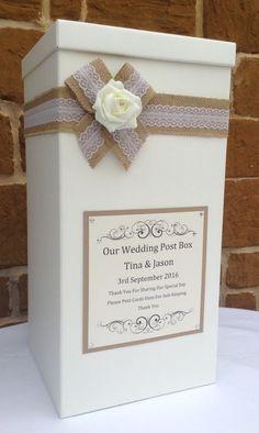 Vintage Wedding Card Post Box, Wedding Favours, Wedding Gifts, Wishing Well Diy Wedding Envelope Box, Diy Wedding Post Box, Wedding Gift Card Box, Wedding Day Wishes, Vintage Wedding Cards, Wedding Favor Boxes, Wedding Envelopes, Wedding Gifts, Trendy Wedding