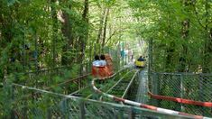 Tom Scott Travels to a Small Theme Park Playground in Italy With Hand-Welded, Human-Powered Rides Italy Vacation, Italy Travel, Vacation Places, Family Vacations, Vacation Ideas, Trekking, Park Playground, Carnival Rides, Italy Holidays