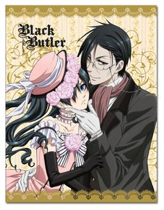 Black Butler Ciel & Sebastian Dresses Sublimation Throw Blanket