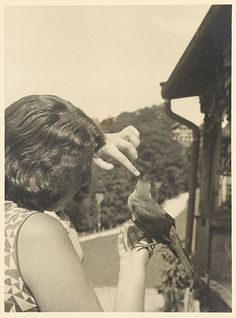 ss-reicheagle:  Angelika Maria (Geli) Raubal with Jackdaw at Berghof.