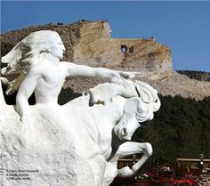 Crazy Horse Memorial South Dakota Could Barely Make Out The Face When We