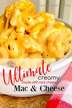You'll love this quick and easy Southern favorite! Creamy Mac & Cheese is the ultimate comfort food and this recipe uses REAL cheese! Easy Recipes For Beginners, Cooking For Beginners, Thanksgiving Recipes, Holiday Recipes, Dinner Recipes, Cheese Dishes, Mac Cheese, Southern Macaroni And Cheese, Fried Corn