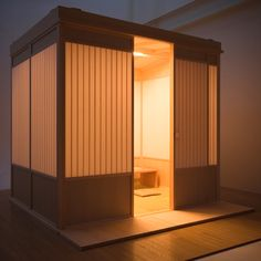 Hako Ie (box house) is a ceremonial room that can be collapsed or constructed by anyone to host a tea ceremony.