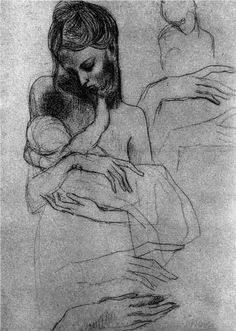 Mother and child (study) - Pablo Picasso