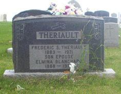 Blanchard, Elmina & Theriault, Frederic  | Simon & St.Jude Cemetery – Grande Anse | New Brunswick Genealogy