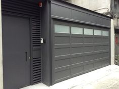 O'Leary stacking garage doors - modern - garage doors - other metro - YI CHENG DOORS CO., LTD
