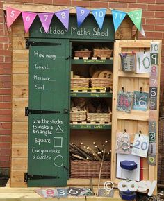 Outdoor eyfs literacy shed? Outdoor eyfs literacy shed? Outdoor Education, Outdoor Learning Spaces, Outdoor Play Areas, Eyfs Outdoor Area Ideas, Outdoor Games, Maths Eyfs, Eyfs Classroom, Outdoor Classroom, Numeracy