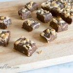 Sugar-Free Chocolate Peanut Butter Protein Fudge {Nut Free Option}