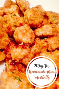 Homemade Mini Meatballs {21 Day Fix} | Confessions of a Fit Foodie
