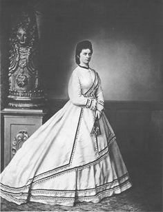 The Duchese of Alençon Sophie-Charlotte in Bavaria, sister of Empress Elisabeth of Austria. (Sissi) Photography by Franz Hanfstaengl. 1867