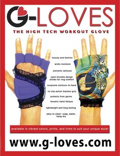 G-Loves are high tech workout gloves!
