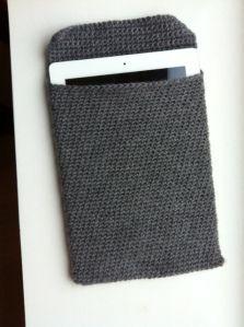 Crocheted IPad sleeve