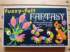 Fuzzy felt fantasy was one I always wanted. 1980s Childhood, My Childhood Memories, Retro Toys, Vintage Toys, 1980s Toys, Vintage Games, Vintage Stuff, Fuzzy Felt, Original Vintage