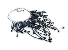THE BLACK QUEEN necklace with three black TRIFIN crystals / photo:Pavlos Kapoglou