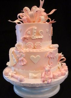 Baby shower cake from cakecentral.com  How adorable is this??
