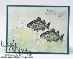 By The Tide Fathers Day Card - Luvin Stampin