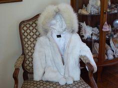 Niki Rabbit & Fox Fur Child's Size 5 Hooded Coat, Child's Fur Coat Size 5 with Hood, Vintage Fur Coat Child Size 5 by MyFrenchTexas on Etsy