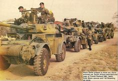 A Rhodesian Eland armored cars from South Africa. Military Photos, Military Art, Military History, Royal Australian Navy, Armored Fighting Vehicle, All Nature, Military Equipment, Armored Vehicles, War Machine