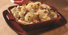 What makes this German potato salad so different is that it's sweet instead of tangy. It is very tasty and a change from traditional mayo based potato salad. TOTAL TIME: Prep: 50 min. Bake: 30 min. MAKES: 8-10 servings Ingredients for German Potato Salad 12 medium red potatoes (about 3 pounds) 8 bacon strips 2 …