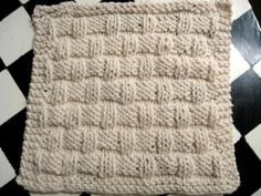 Basketweave Dishcloth - pattern & other ideas - at Little House In The Suburbs.  Thanks, Deanna!  So easy & fun to do!