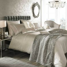 Kylie Minogue Liza Soft Praline Bed Linen Bedding Range Duvet Cover Cushions | eBay