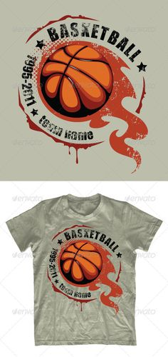 Grunge #basketball T-shirt design - #Sports & Teams #T-Shirts Download here: https://graphicriver.net/item/grunge-basketball-tshirt-design/542399?ref=alena994