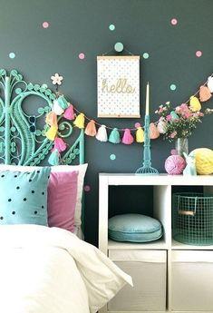 Awesome Tween Girls Bedroom Ideas. Blue Bedroom Ideas For Girls, Blue Teen Rooms, Small Girls Bedrooms, Teen Bedroom Designs, Cute Bedroom Ideas, Cute Room Decor, Teen Girl Bedrooms, Small Room Bedroom, Little Girl Rooms