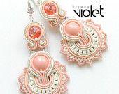 Soutache earrings - Coral Reef