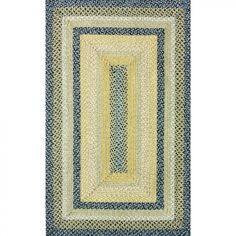 nuLOOM Blue Braided Rug - HJCBD01
