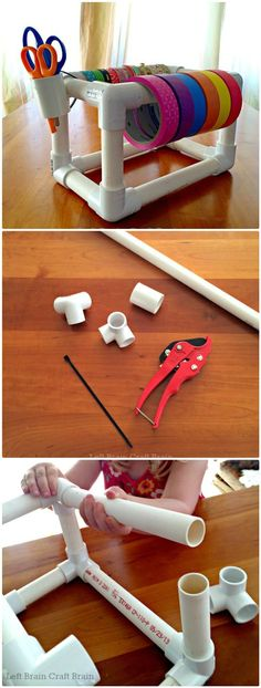 48 DIY Projects out of PVC Pipe You Should Make - DIY & Crafts Tape Dispenser, Pvc Pipe, Training Tips, Pvc Tube