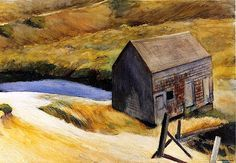 The Lewis Barn Edward Hopper - 1931