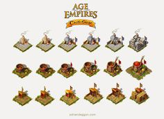 age of empires castle siege castle layouts - Google Search