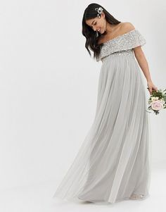 ca06a389090b2 Gray Is a Seriously Underrated Bridesmaid Dress Color. Grey Bridesmaid  DressesGrey BridesmaidsWedding DressesTulle DressChiffon GownMaternity ...