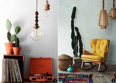 Decoración estilo étnico: estampados, cactus, suculentas... | Conkansei.com