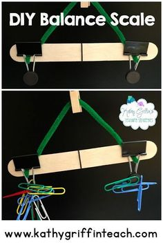 DIY balance scale kids can make for home or in the classroom. A fun learning activity for kindergarten kids and late preschoolers.