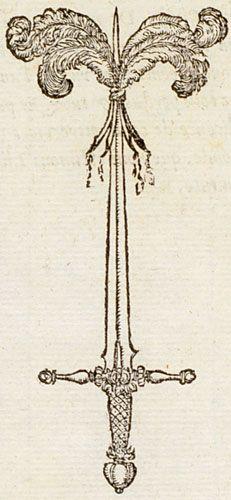 """""""Police souvereine."""" - Claude: Devises heroïques (1557) - """"En la Police souvereine sont deus choses, les Lettres  & Plumes, pour le conseil, & l'Espee pour l'execucion."""""""