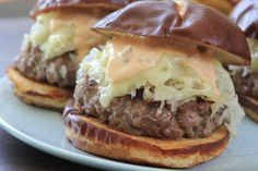 Reuben Burgers on Pretzel Rolls - Farberware Cookware