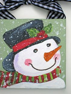 Snowman painting for beginners. Detailed instructions & photos. LM 12-2014