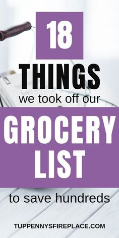 If you need to save money, your food shopping list is a great place to start. Cut these 18 items from your grocery budget and watch your savings grow. Best Money Saving Tips, Ways To Save Money, Money Tips, Saving Money, Frugal Living Tips, Frugal Tips, Food Shopping List, Grocery Lists, Money Plan