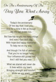 A special poem to remember your lost loved one on the anniversary of their passing. #memorialpoems #anniversary